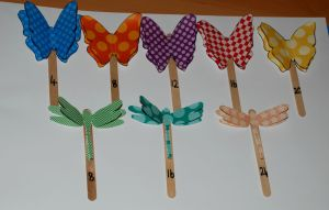 3D butterfly and 3D dragonfly skip counting  and  times table sticks