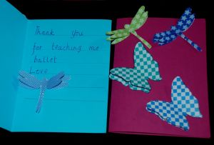 3D butterfly and 3D dragonfly thank you cards