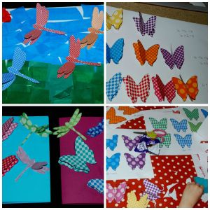 3D dragonfly and 3D butterfly ideas found using templates from Twinkl on ofamilyblog
