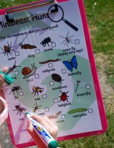 Minibeast Hunt in the back garden on ofamilyblog