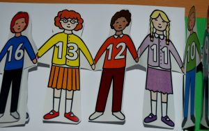Numbered children included in the Maths lapbook as found on ofmailyblog