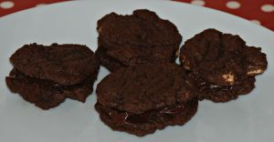 Chocolate biscuits made using tesco mix
