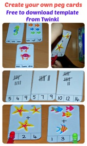 Create your own peg card activities using the FREE to download template from Twinkl Resources