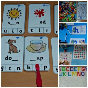 Ideas to include in a Letter and Sound folder for young kids learning to read found on ofamilyblog