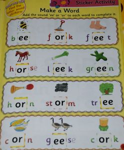 Jolly Phonics activity book another sticker activity