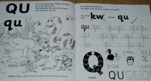 Jolly Phonics workbooks Qu page