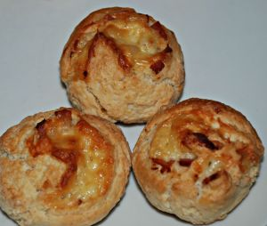 The very yummy bacon and cheese scones