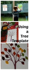 Using a Tree template to encourage young kids to get creative
