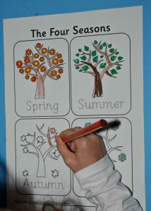 Activity village four season colouring poster