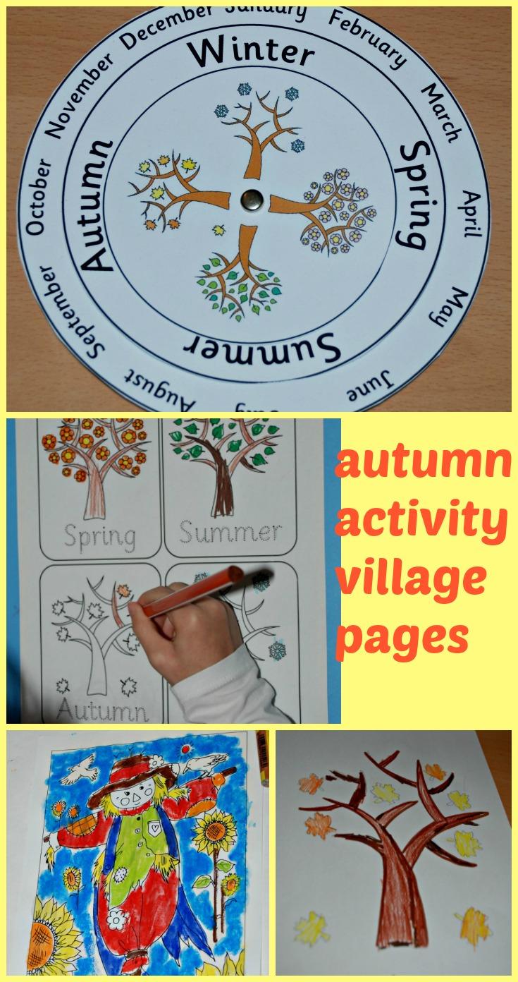 activity village coloring pages autumn - photo#31