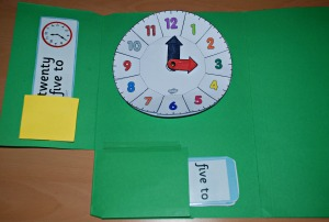 Clock lapbook on ofamilyblog