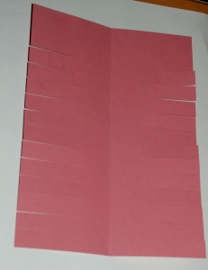 A4 card with flaps cut out