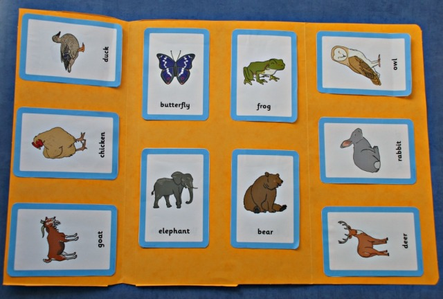 Animal and their Young folder create using Free to download matching cards from Twinkl Resources
