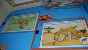Dinosaur and African animal playdough mats
