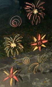 Fireworks on our sliding doors