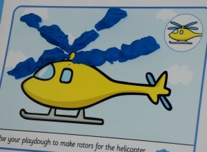 Helicopter playdough mat part of the transport playdough mat set