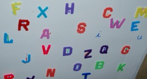 matching Hama Bead Capital letters to small letters