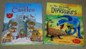See Inside Castles and See Inside the world of Dinosaurs