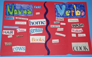 Simple Verb and Noun folder idea on ofamilyblog