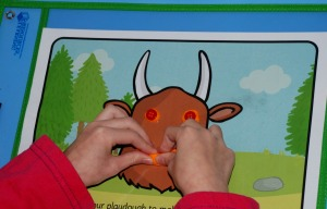 Twinkl gruffalo playdough mats inside Learning REsources Write and wipe pockets