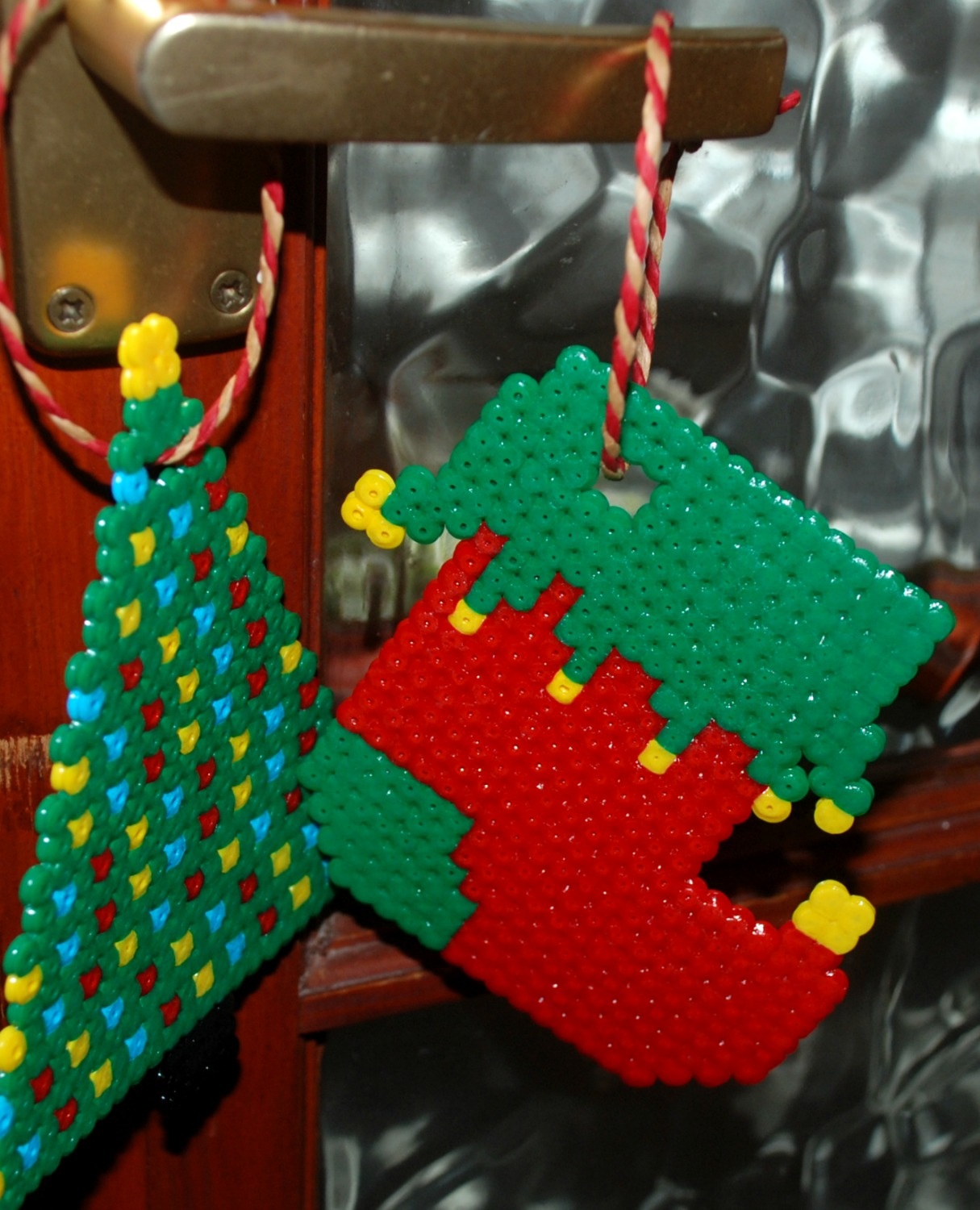 hama bead christmas tree decorations on ofamilyblog - Childrens Christmas Tree Decorations