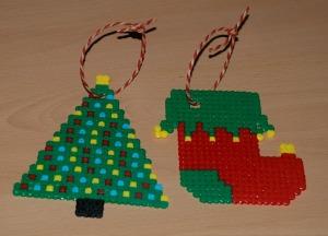 Hama Bead (fusion bead) Christmas decorations onn ofamilyblog