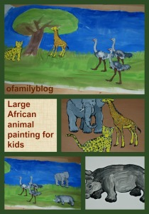 Large African animal painting activity for kids to do