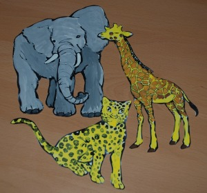 painted african animal colouring pages cut out
