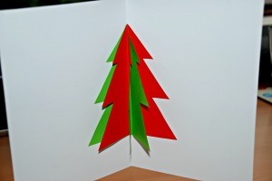 Christmas tree card on ofamilyblog