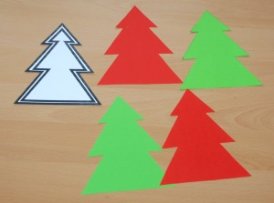 Christmas tree shapes using the Activity village template