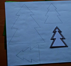 Christmas tree template from Activity village