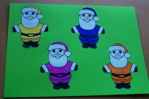 Jolly Father Christmas card on ofamilyblog