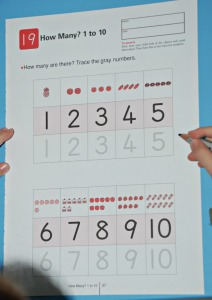 Kumon number book page