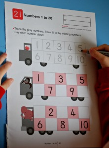 Kumon number book practicing the number formation