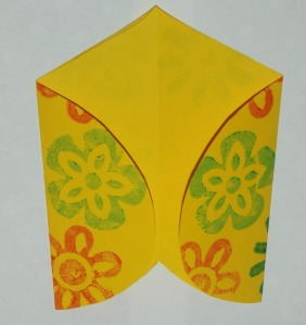 Making your own envelopes - fold the two sides so that they almost touch