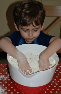 Rusks mixing your dry ingredients together