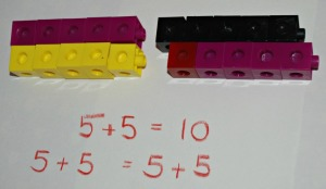 Snap cube maths on ofamilyblog