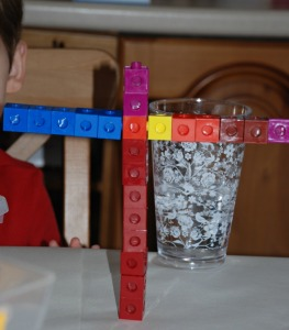 snap cubes as building blocks