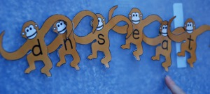 Tumbling monkey nonsense words