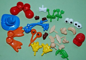 Body parts to use with playdough