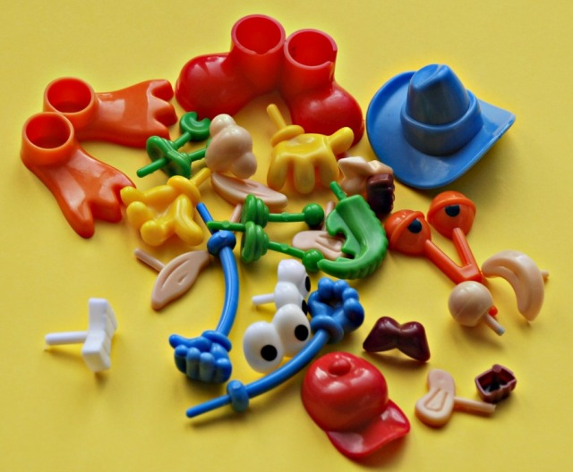 Playdough plastic body part set.  Great little set which adds lots of fun to playdough