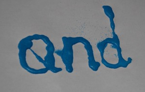 Sand words - using sand art to practice our letter formation and sight words