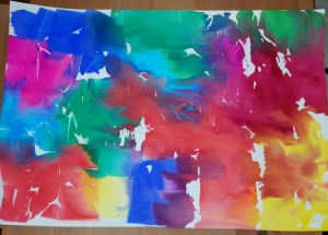 Using tissue paper to create fun colourful paper