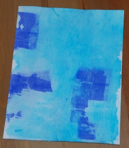 Watercolour paper after the tissue paper has been removed