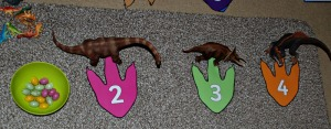 Dinosaur addition set up