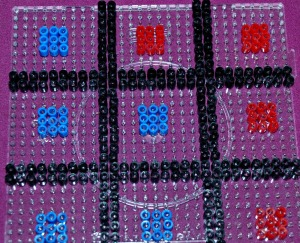Hama noughts and crosses