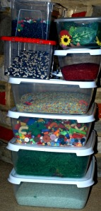 Items we use in our sensory tubs