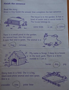 Key Stage 1 Early Comprehension book