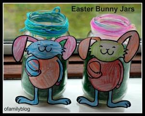 Kid-made Easter Bunny Jars