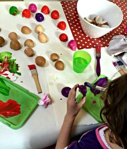 painting egg shells